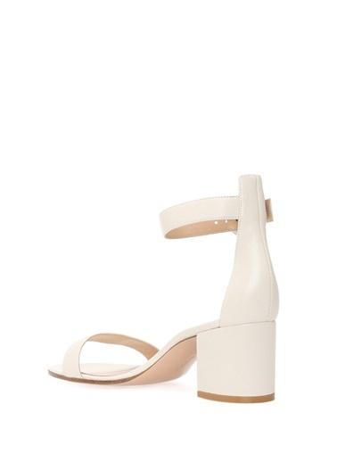 Gianvito Rossi Kalın Topuklu Sandalet Beyaz